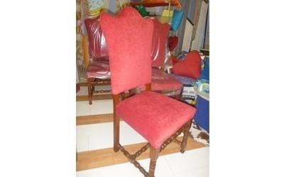 sedia velluto rosso