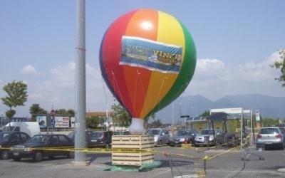mongolfiera pubblicitaria
