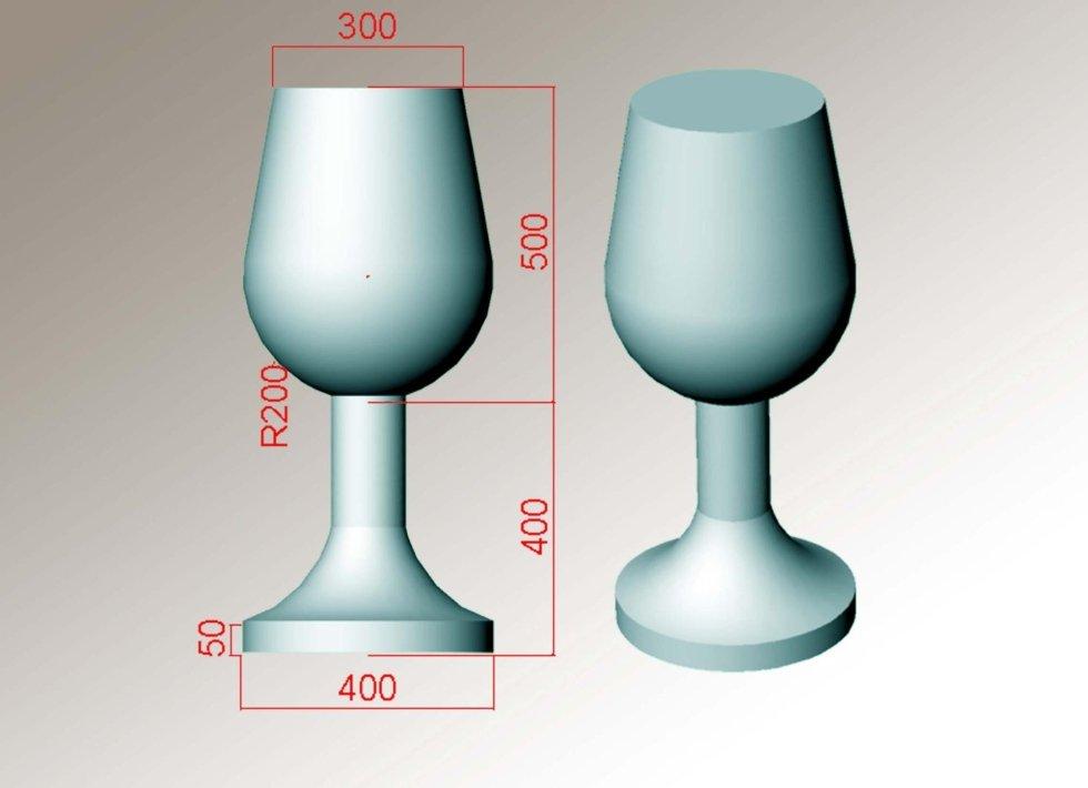 design bicchiere cristallo