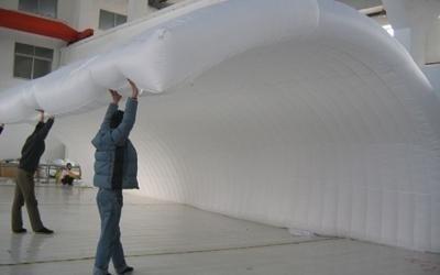 sistemazione tenda gonfiabile