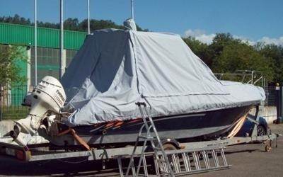 copertura barca su misura