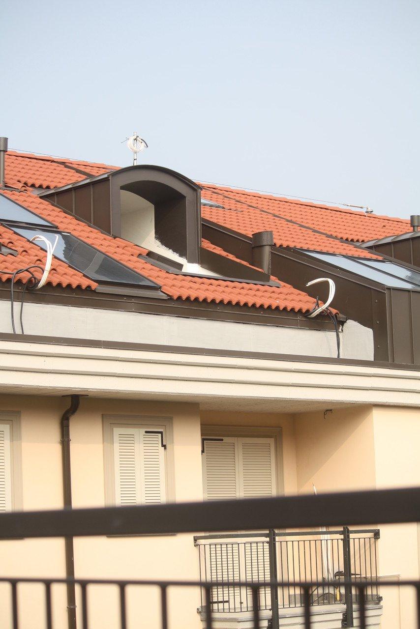 tetto di una nuova costruzione