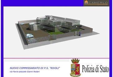 un disegno di un progetto di una nuova Caserma della Polizia di Stato