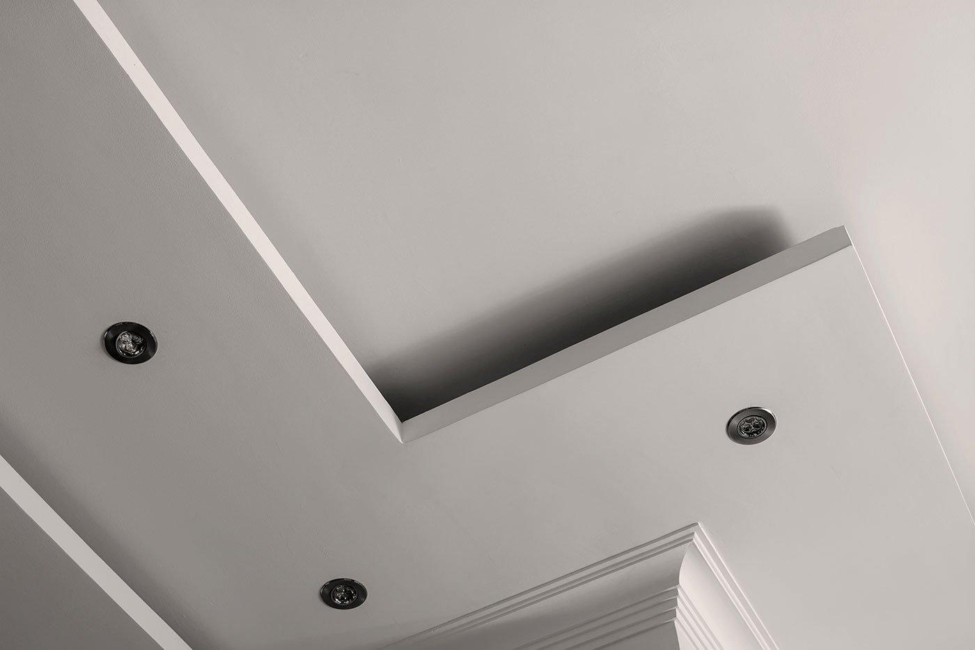 soggiorno soffitto tetto nel design l forma
