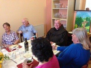 Br Michael Copps OFM at celebratory lunch