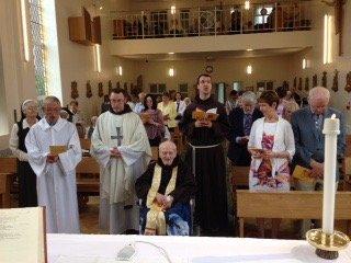 Br Ignatius at Mass
