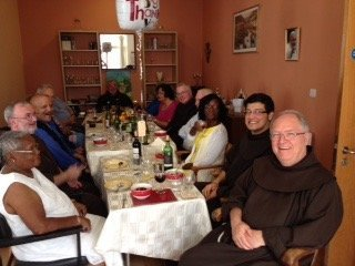 Br Patrick Lonsdale at celebratory lunch