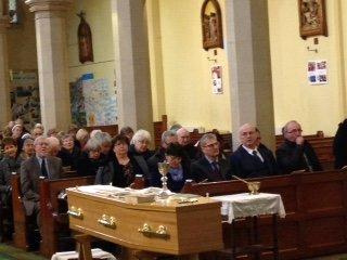 Ignatius's funeral coffin