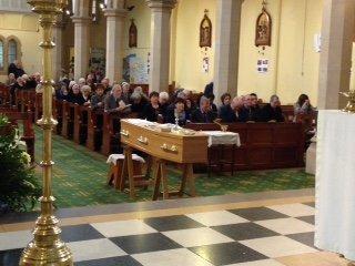 Ignatius' funeral coffin