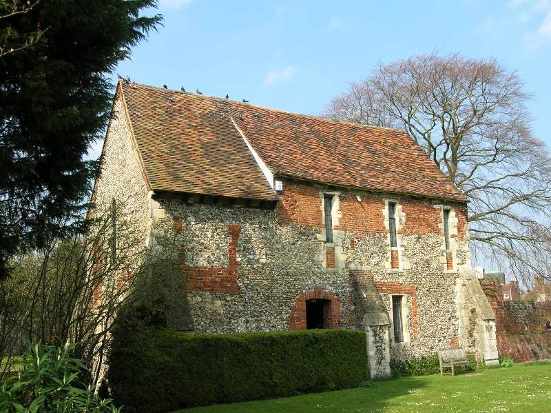 Front view of ancient Friary, Canterbury