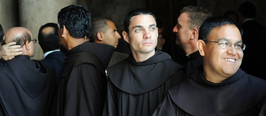 Young Friars in company