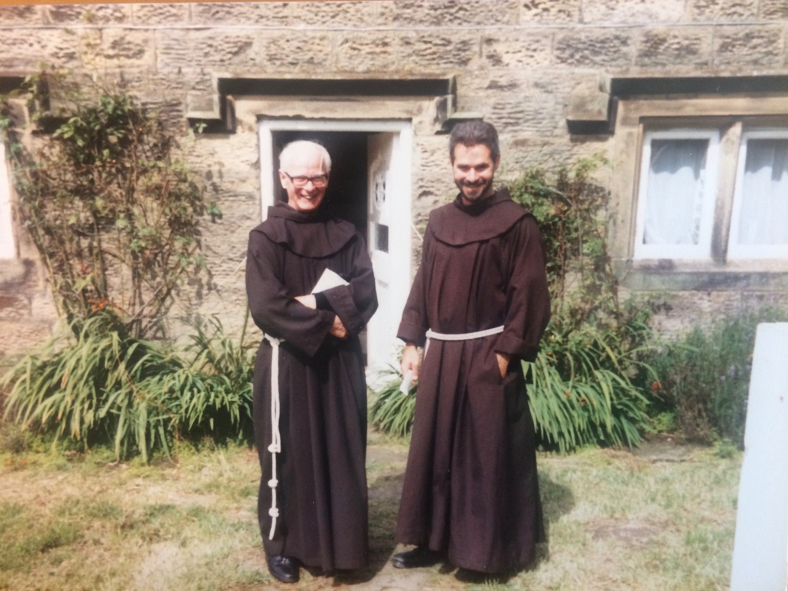 Ignatius standing with Friar Martyn Jeffs
