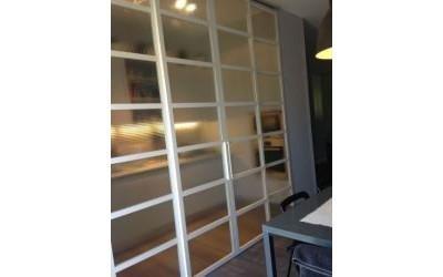 Scorrevole vetro e alluminio