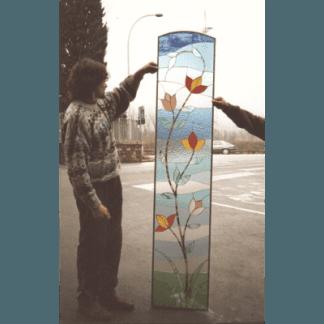 Vetrata rilegata in rame, tiffany, restauro vetrate artistiche, vetrate su misura