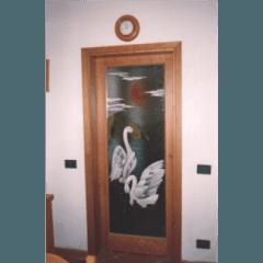 vetrate pitturate a freddo, vetrate tiffany, vetri dipinti, vetri per sportelli