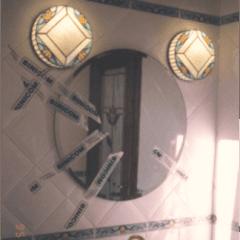 lumiere rilegate, lumiere rilegate in rame, tiffany, vetro decorato, vetrate a piombo