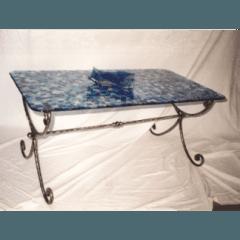 tavolino in vetrofusione, vetrofusione, vetri per sportelli, tiffany, vetri dipinti
