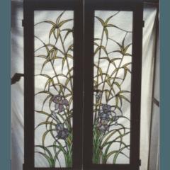 vetrofusione, vetri dipinti, restauro vetrate artistiche, vetri per sportelli