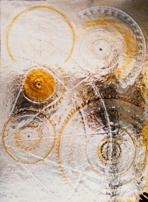 Vetrata con spirali
