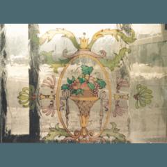 vetrate pitturate a freddo, vetrate personalizzate, vetrate con disegni su misura, rilegatura ottone