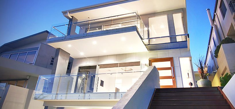 Glass balustrade balcony