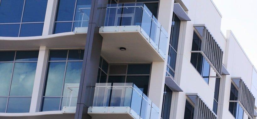 Frameless glass balustrade balconies