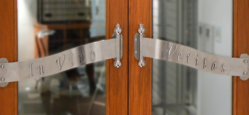 Custom made stainless steel door handles