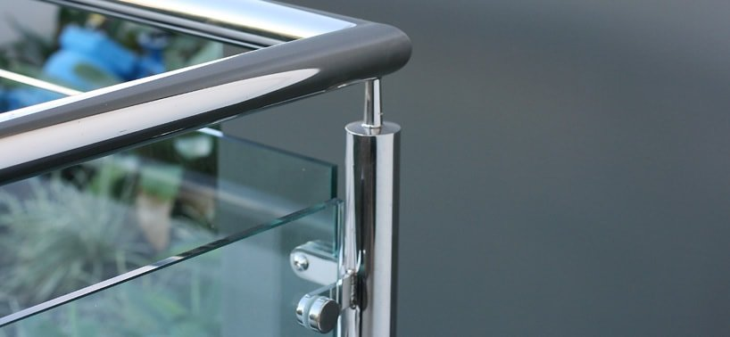 Pin fixed glass balustrades
