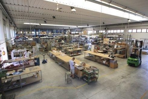 Veduta del magazzino produttivo