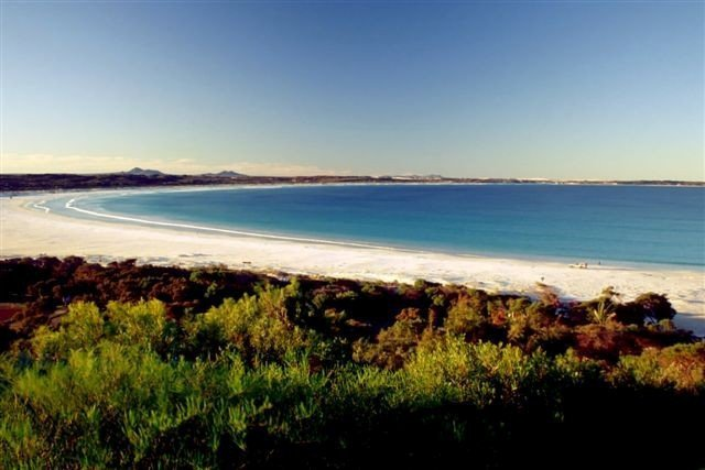 Amazing view of the Bremer bay beach