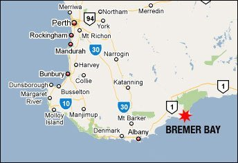 Location Map of Bremer Bay