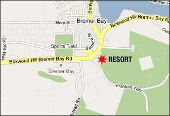 Location map for the resort