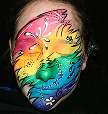 colorful face painting
