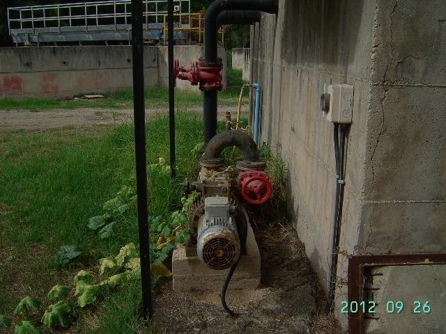 tubi dell'impianto di depurazione