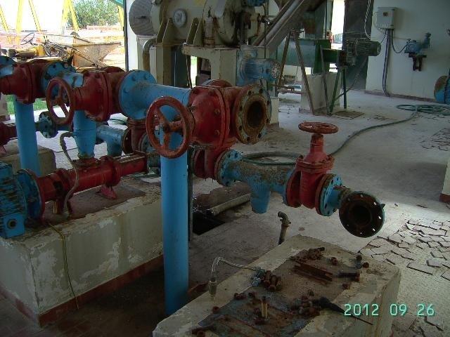 tubature in impianto agricolo