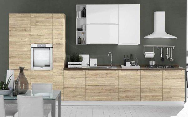 Cucina in rovere bianco - Emi arredamenti - Savona
