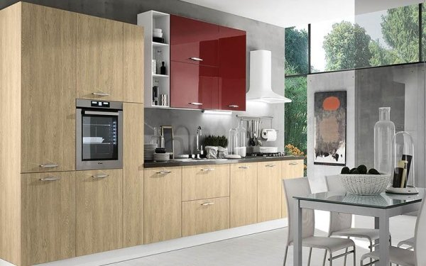 Cucina in rovere - Emi arredamenti - Savona
