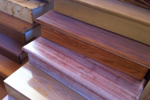 laccatura scale legno