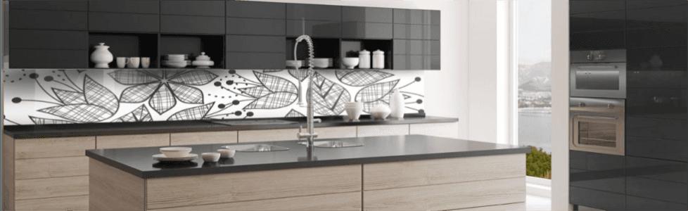 schienali per cucine in vetro