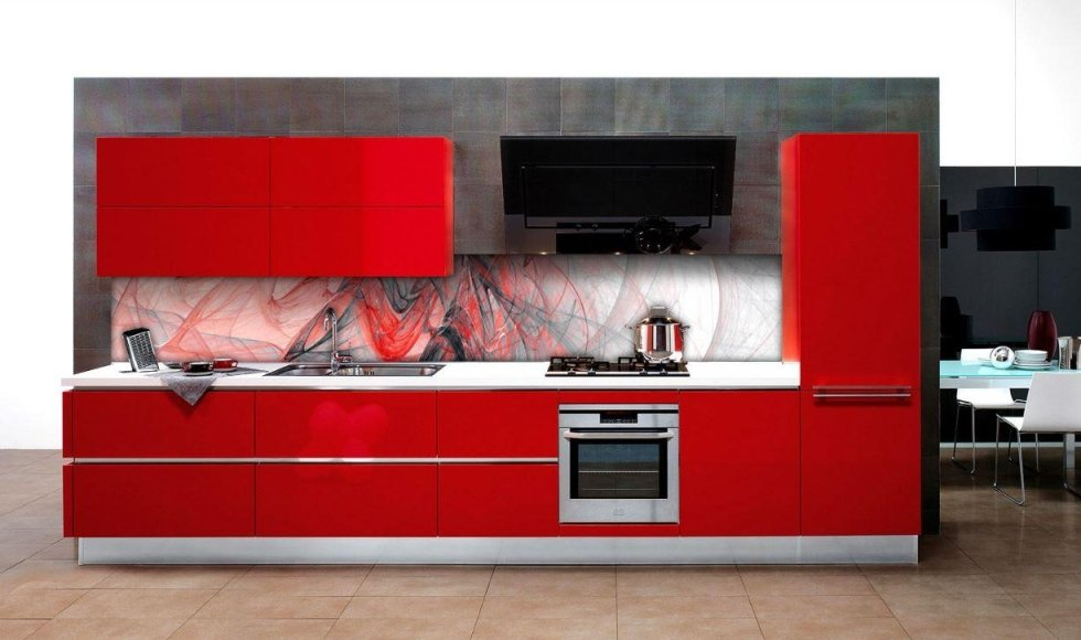 schienale in vetro stampato per cucine
