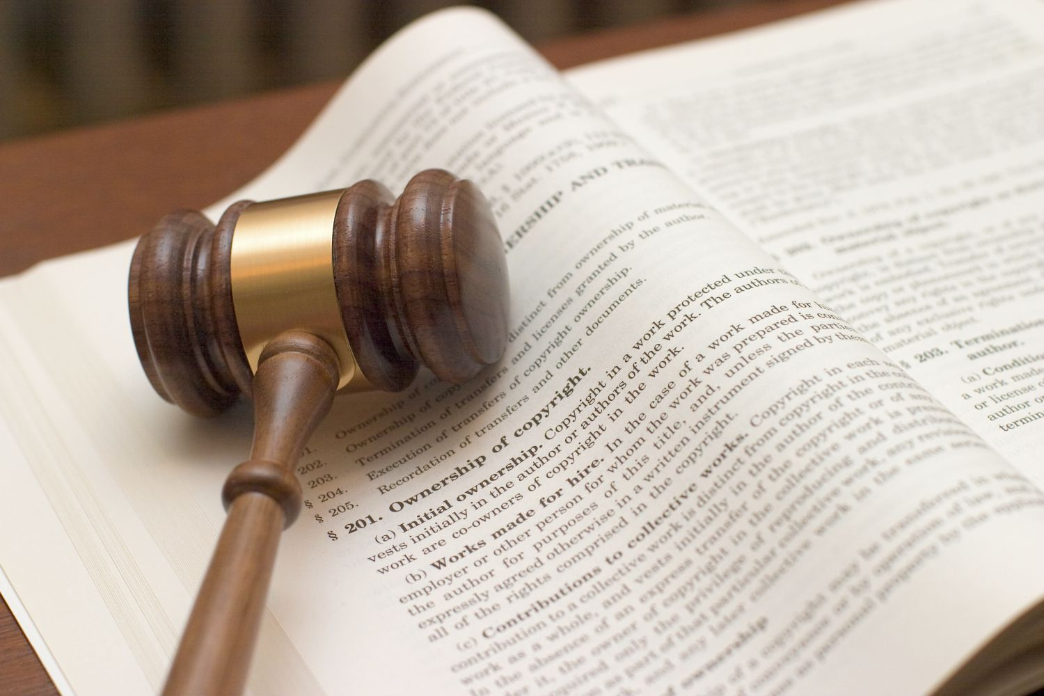A gavel and book for legal matters Statesboro, GA