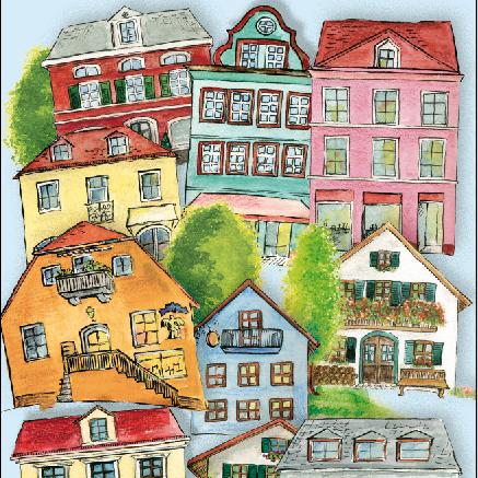 Illustration Häuser Immobilien Bogner