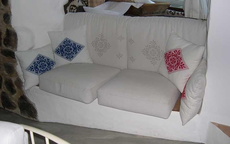 production of sofa upholstery