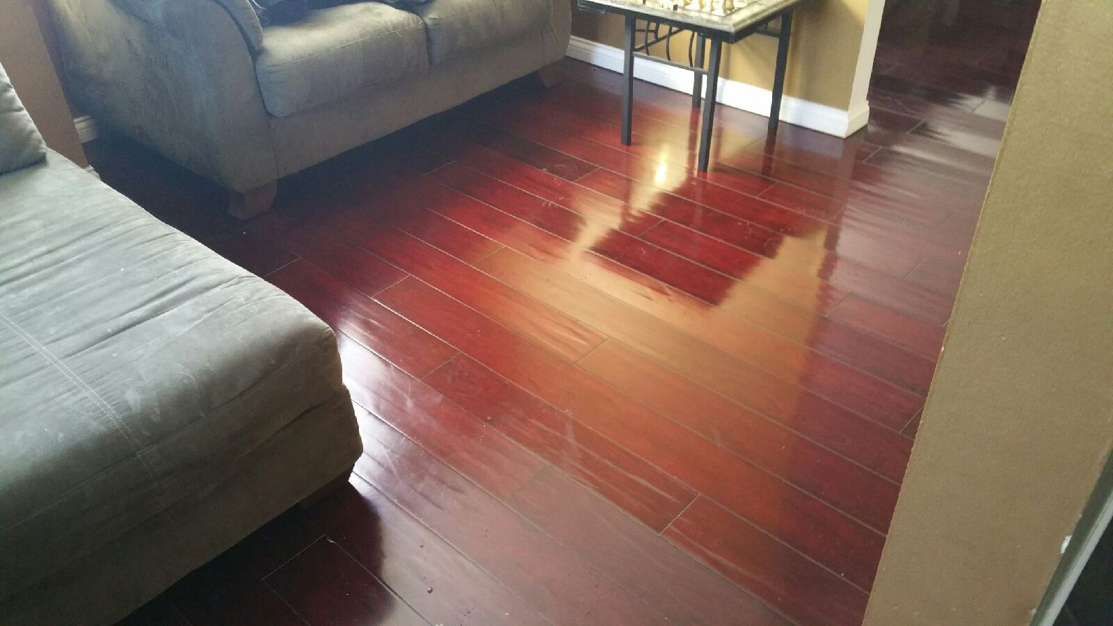Newly installed dark wood flooring  in Cincinatti
