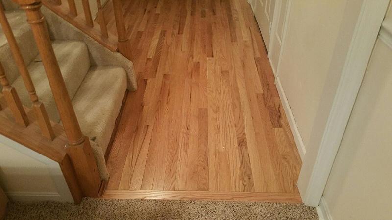 Newly installed wood flooring  in Cincinatti