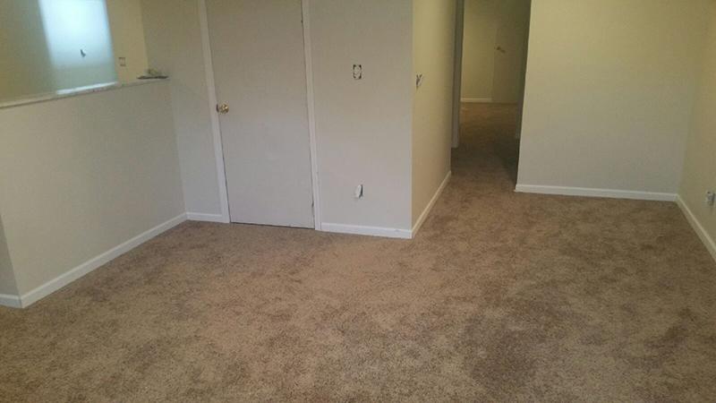 Newly installed carpet flooring in Cincinatti