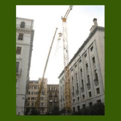 Grù per restauro facciate