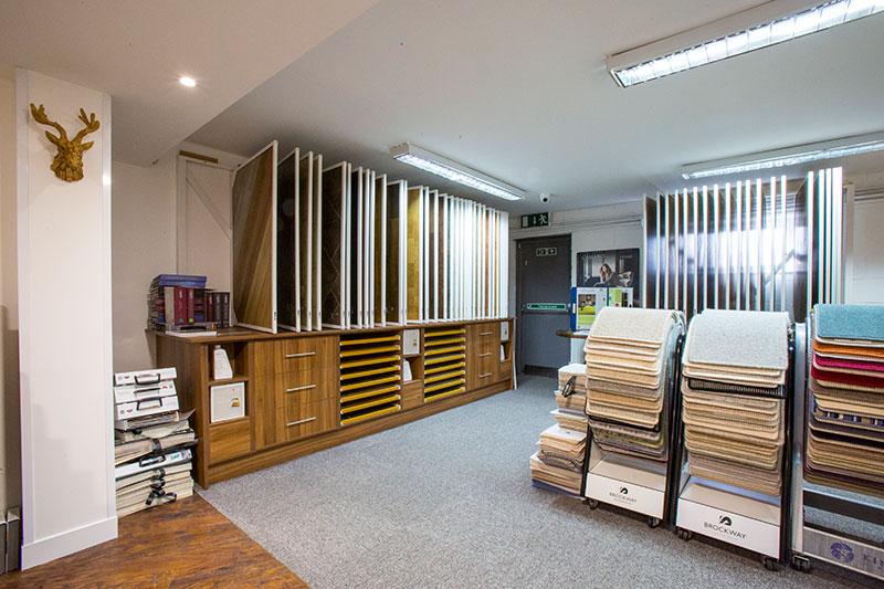 Inside County flooring & supplies showroom