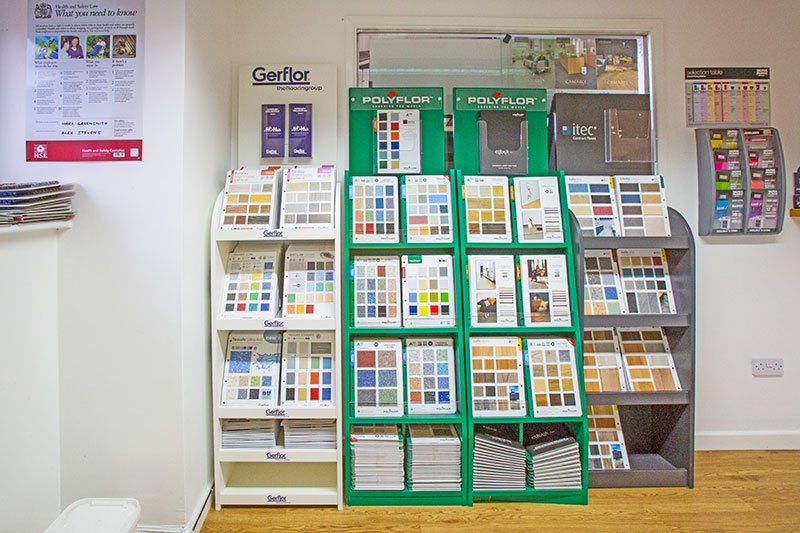 Variety of flooring colours at County flooring & supplies
