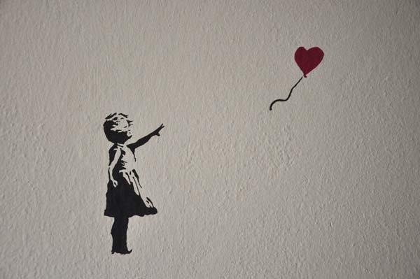 la bambina con il palloncino del graffittista Bansky